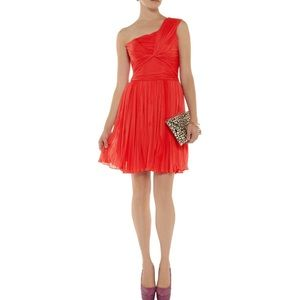 Hailston Heritage One Shoulder Plisse Dress Sz 4